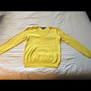 Polo by Ralph Lauren Sweaters - Polo Ralph Lauren yellow v-neck cotton sweater